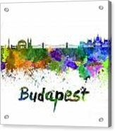 Budapest Skyline In Watercolor Acrylic Print