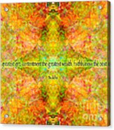 Budda Quote On Life Acrylic Print