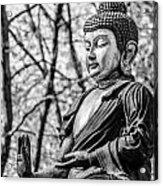 Buddha - Siddhartha Gautama - In Black And White Acrylic Print