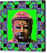 Buddha Abstract Window 20130130m180 Acrylic Print by Wingsdomain Art and Photography