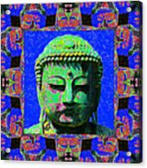 Buddha Abstract Window 20130130m68 Acrylic Print by Wingsdomain Art and Photography