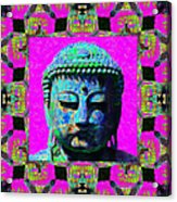 Buddha Abstract Window 20130130p0 Acrylic Print by Wingsdomain Art and Photography