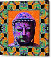 Buddha Abstract Window 20130130p85 Acrylic Print by Wingsdomain Art and Photography