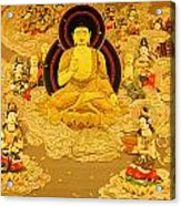 Buddha And Fairies Acrylic Print