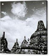 Buddha And Stupas Acrylic Print