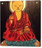 Buddha Cat Asian  Acrylic Print