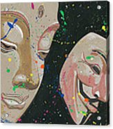 Buddha Fawkes Acrylic Print by Kyle Willis