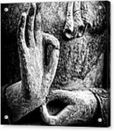 Buddha Hand Mudra Acrylic Print by Tim Gainey