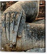 Buddha Hand Thailand Acrylic Print