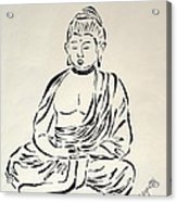 Buddha In Black And White Acrylic Print