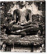Buddha In Meditation Statue Acrylic Print