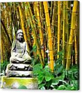 Buddha In The Bamboo Forest Acrylic Print