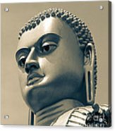 Buddha On Top Of Golden Temple Of Dambulla Acrylic Print