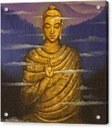 Buddha. Passing Clouds Acrylic Print by Vrindavan Das