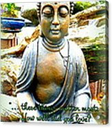 Buddha Quotes Acrylic Print