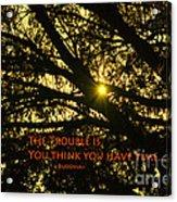 Buddha Says... Acrylic Print