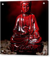 Buddha Statue Figurine Acrylic Print by Olivier Le Queinec