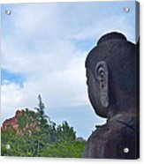 Buddha Statue In Red Rocks Az Acrylic Print
