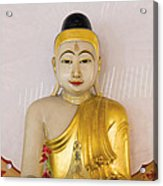 Buddha Statue In Thailand Temple Altar Acrylic Print