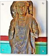 Ancient Buddha Statue - Albert Hall - Jaipur India Acrylic Print