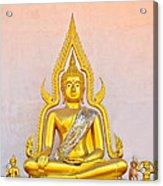 Buddha Statue Acrylic Print by Keerati Preechanugoon