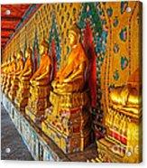 Buddhas At Wat Arun, Bangkok Acrylic Print