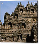 Buddhas Of Borobudur Acrylic Print