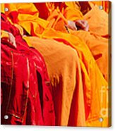 Buddhist Monks 04 Acrylic Print by Rick Piper Photography