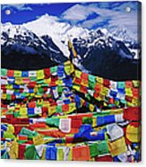 Buddhist Prayer Flags With Meili Acrylic Print