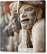 Buddhist Statue At Dazu Stone Carvings Acrylic Print