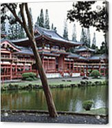 Buddhist Temple, Byodo-in Temple Acrylic Print