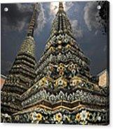 Buddhist Temple In Bangkok Thailand Buddhism Wat Po Acrylic Print