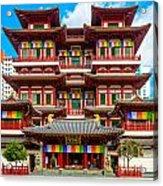 Buddhist Temple In Singapore Acrylic Print