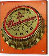 Budweiser Cap Acrylic Print by Tony Rubino
