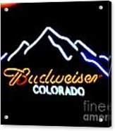 Budweiser In Colorado Acrylic Print