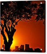 Buenos Aires At Sunset Acrylic Print