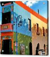 Buenos Aires Caminito Famous Iron Painting Acrylic Print