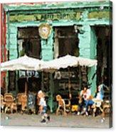Buenos Aires Caminito restaurant PETIT TORTUS Painting Acrylic Print