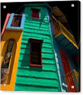 Buenos Aires Caminito Sunshine at Midtnight Painting Acrylic Print