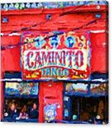 Buenos Aires Caminito Tango Theatre Painting Acrylic Print