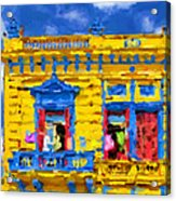 Buenos Aires Caminito Yellow House From 1902 Painting Acrylic Print
