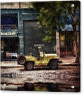 Buenos Aires Jeep Under The Rain Acrylic Print