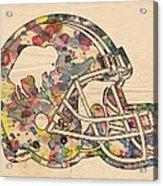 Buffalo Bills Vintage Art Acrylic Print
