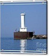 Buffalo New York Outer Breakwater Lighthouse Acrylic Print