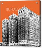Buffalo New York Skyline 2 - Coral Acrylic Print