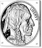 Buffalo Nickel Acrylic Print