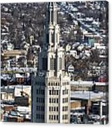 Buffalo Ny Electric Building Winter 2013 Acrylic Print