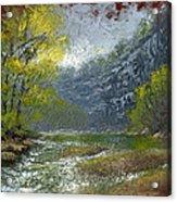 Buffalo River Bluff Acrylic Print by Timothy Jones