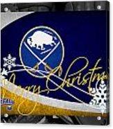 Buffalo Sabres Christmas Acrylic Print