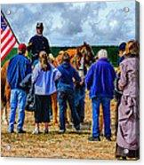 Buffalo Soldier Fort Verde Arizona Acrylic Print